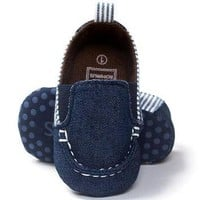 Baby Shoes For Girls Or Boys Canvas First Walker Toddler Soft Sole 0-18M
