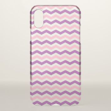 Pink and Purple Chevron iPhone X Case