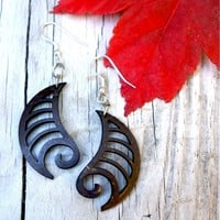 Brown Silver Earring
