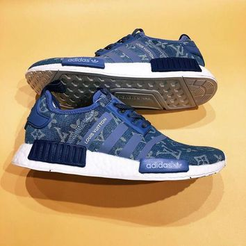 One-nice™ LV Adidas Originals NMD R1 PK Fashion Trending Sneakers Running Sports Shoes I