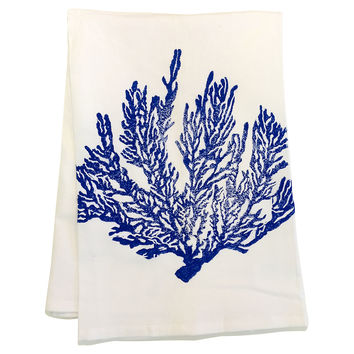 Blue Coral Towels, Set of 2, Tea towels & Dishtowels