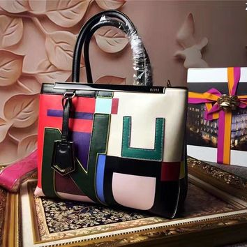 Fendi Women's Colors Leather Handbag Shoulder Bag
