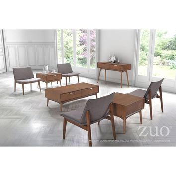ZUO Modern Design District Coffee Table Walnut 100091 Living Consoles
