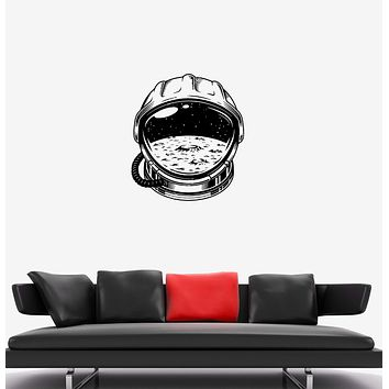 Wall Decal Astronaut Spacesuit Space Universe Moon Vinyl Sticker (ed1257)