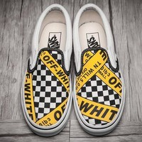 Vans x OFF-WHITE Old Skool Flats Sneakers Sport Shoes