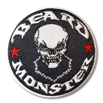 Beard Monster Iron On Patch