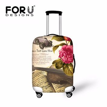 FORUDESIGNS Landscape Retro Travel Luggage Protective Cover Classic Print Elastic Suitcase Covers For 18-28 inch Trunk New Hot