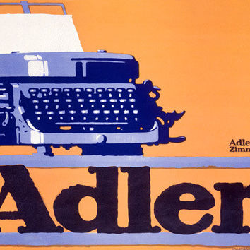German Adler Typewriter Advertisement Fine Art Print