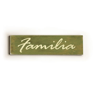 Familia Green Wood Sign