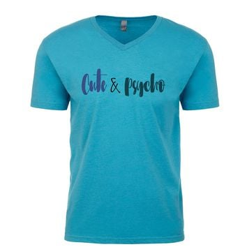 Cute And Psycho Men's V Neck
