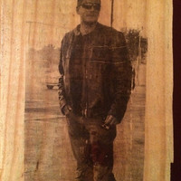 Distressed Photo on Wood
