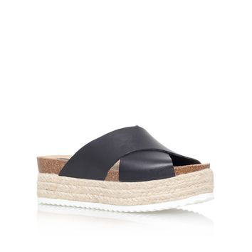 Kurt Geiger | KOOL Black Flatform Sandals by Carvela Kurt Geiger