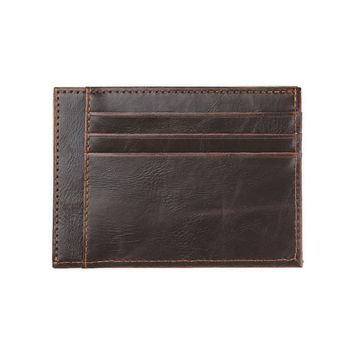 JINBAOLAI Wallets Men Leather ID Credit Card Holder Billfold Purse Clutch Black and Coffee Color For Mens #4M