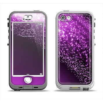 The Shower of Purple Rain Apple iPhone 5-5s LifeProof Nuud Case Skin Set