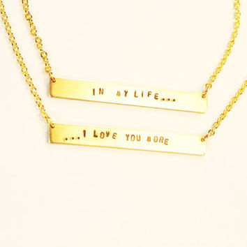 IN MY LIFE Necklace Set (Pair of Two)