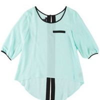 A. Byer Juniors High-Low Colorblcked Top | Bealls Florida