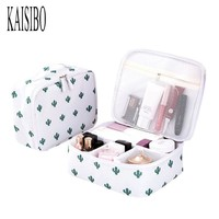 KAISIBO New Cosmetic Bag Women Travel Make Up Organizador Necessarie Portable Storage Travel Toiletry Bag Waterproof Wash Pouch