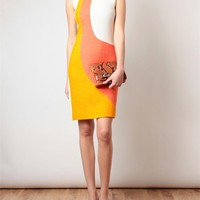 Browns fashion & designer clothes & clothing | ROKSANDA ILINCIC | Wool-blend Colour-blocked Dress