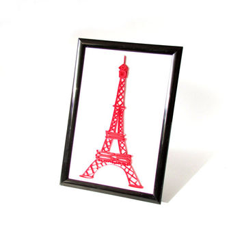 The Eiffel Tower Quilling Miniature, Quilled Eiffel Tower Picture, Paris Quilling Miniature
