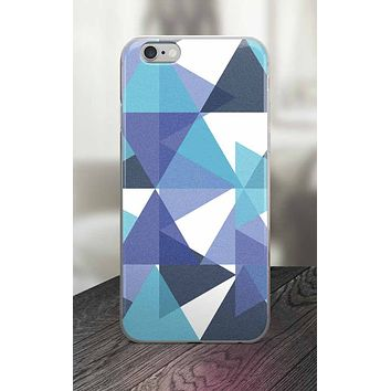 65 MCMLXV Blue Colored Triangles Print iPhone Case