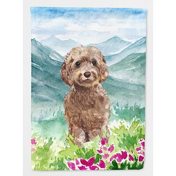 Mountian Flowers Labradoodle Flag Canvas House Size CK1988CHF