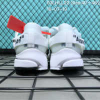KYOU Off-White x Nike Air Presto Anti-Theft Deduction Knit Breathable Running Shoes White
