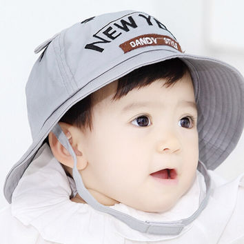 So Cute Baby Gray Fisherman Cap Comfortable Hot Summer Gift 46