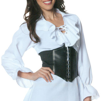 costume accessory: pirate laced front blouse | small