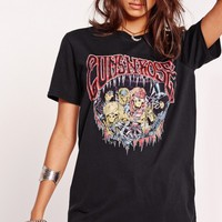 Missguided - Guns N Roses Skeleton Slogan T-Shirt Black