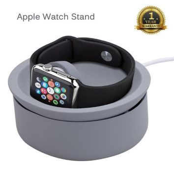 Apple Watch Stand, Sundix (TM) Premium Apple Watch Charging Stand Cradle Holder Compatible with all Apple Watch / Sport / Edition [Both 38mm and 42mm]-Gray