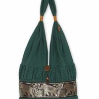 Cotton 'Emerald Thai' Shoulder Bag (Thailand)