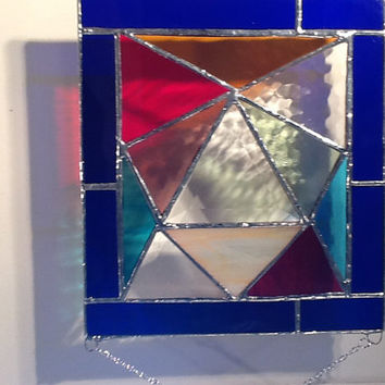 Stained glass panels - Geometric Style