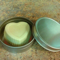 Homemade Glitter Heart Lotion Bar Fragrance free