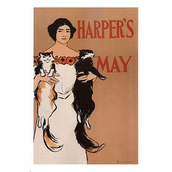 HARPER'S MAY vintage poster EDWARD PENFIELD UK 1897 24X36 educational PRIZED
