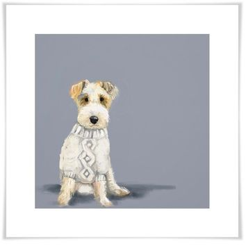 Best Friend - Dog In Sweater Wall Art