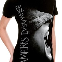 Vampires Everywhere! Fangs Tee Size : X-Small