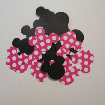 100 Piece Red Minnie Confetti- Minnie Mouse, Minnie party, baby showers, Minnie birthdays, red polka dot