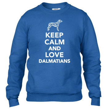 Keep calm and love dalmatians Crewneck sweatshirt