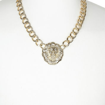 Lion Chain Necklace - Mens Jewelry - Shoes and Accessories - TOPMAN USA