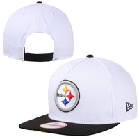 Pittsburgh Steelers New Era 9FIFTY Tropicus A-Frame Snapback Hat - White