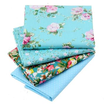 4pcs/lot Floral Print Tissus Cotton Patchwork Fabric Telas Fat Quarter Bundles Quilting Fabric For Sewing Cloth Bedding 40*50CM
