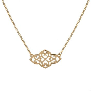 Moroccan Filigree Necklace- Gold