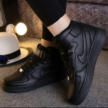 Women Men NIKE Running Sport Casual Shoes Sneakers High tops shoes Black