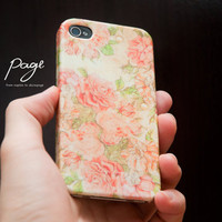 iphone 4 case , iphone 4s case , case for Iphone 4 Blackberry mobile Case handmade: Vintage Rose