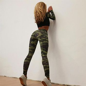 ChamsGend Camouflage High Waist Leggings
