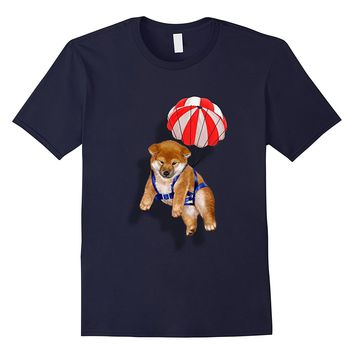 T-Shirt Cute Shiba Inu Puppy Parachute- Japan Dog Skydiving
