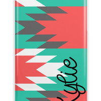 Large tribal print - monogrammed Iphone case