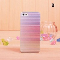 Lewire Stripes Colorful Printed Phone Case For iPhone 5/5S 0630J086 Color B