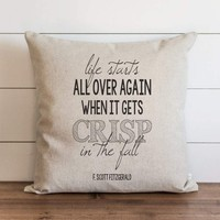 Fall Pillow Cover // Life Starts All Over Again