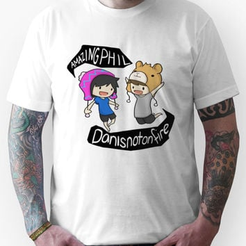 Amazingphil & Danisnotonfire cartoon Unisex T-Shirt